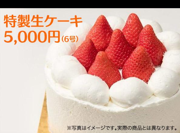 特製生ケーキ5,000円(6号)