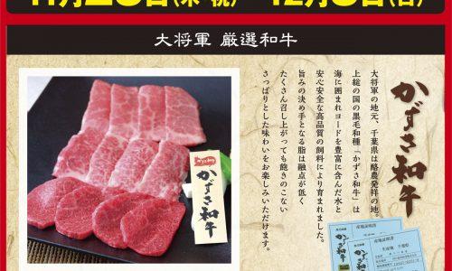 11月は1129〈イイニク〉の日をはさんで肉の日スペシャル!! 11/23(木・祝)〜12/3(日)の11日間
